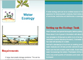 A Water Ecology Tank